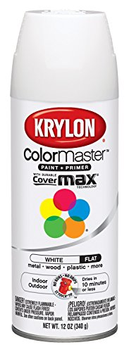 Krylon K05151207 Flat White Interior and Exterior Decorator Paint - 12 oz. Aerosol