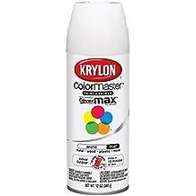 Krylon K05151207 Flat White Interior and Exterior Decorator Paint - 12 oz. Aerosol