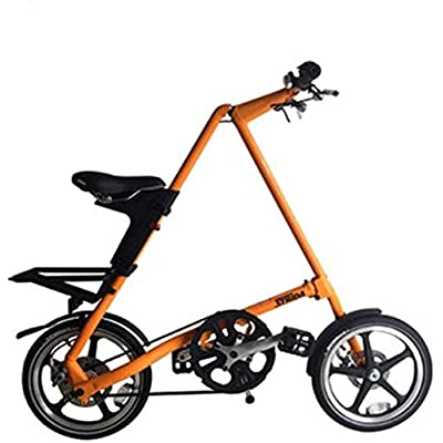 no logo NIAN Kids Bike Boys Girls Freestyle Bicycle with Training Wheels Kickstand Child's Street Dirt Bike Portable Shock Absorber Leisure Scooter boy Girl Bicycle Ultra Light Mini 16 inches: Home & Kitchen
