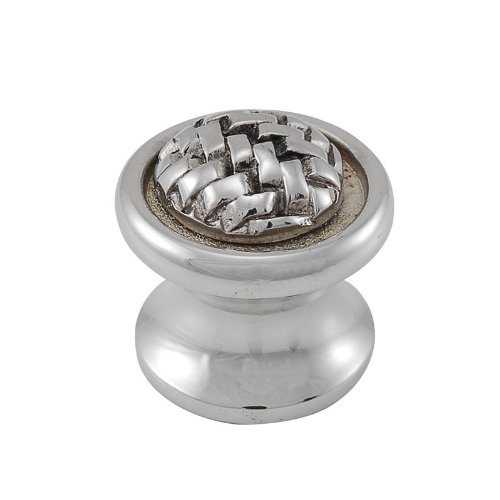 Polished Silver Vicenza Designs K1007 Cestino Knob Small