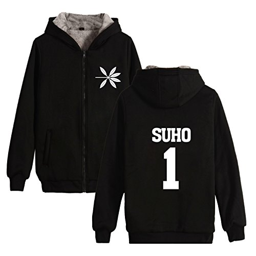 Kpop EXO The War winter Jacket Thicken Sweater Baekhyun Sehun Chanyeol Hoodies