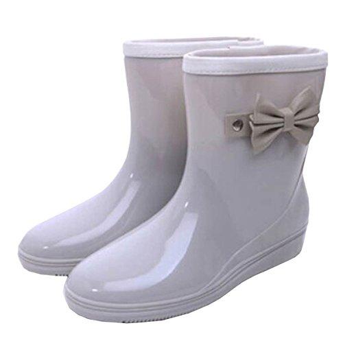HOFFNUNG Männer Frauen Regen Stiefel Wasser Schuhe Wasserdicht Anti-Schlamm Vier Jahreszeiten Anti-Rutsch Easy Match Noble,B-e C