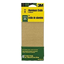 3M Aluminum Obyide Sandpaper 3 2/3 by 9-Inch, 60 Coarse grit, 8-Pack Paint, Wood, Metal Aluminum Obyide Sandpaper