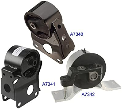K0020 Fits 2002-2006 Nissan Altima 2.5L Engine Motor Mount A7341 A7342 Front Rear Right 3 PCS : A7340