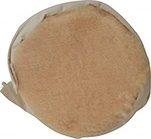 """9"""" Diam Wool Blend Bonnet, 1-1/8"""" Pile, Backing Pad Attachment"""