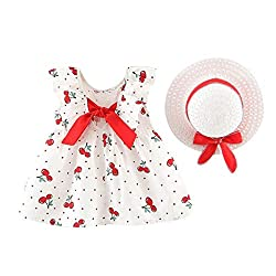 DOLYKUI Girls Dress, 0-4 Years Infant Kid Baby Girl Backless Bow Stripe Sleeveless Party Princess Dress Clothes For Casual Beach Party Photoshoot