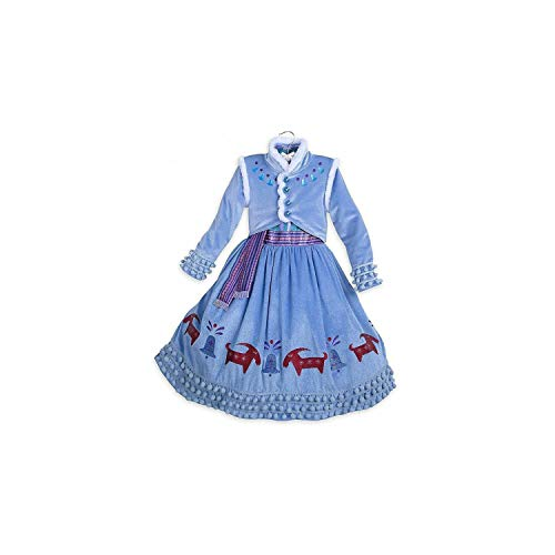 Girl Costume Party Cosplay Clothing Anna Snow Queen Print Birthday Princess Dress Kids,Only Dress2,8]()