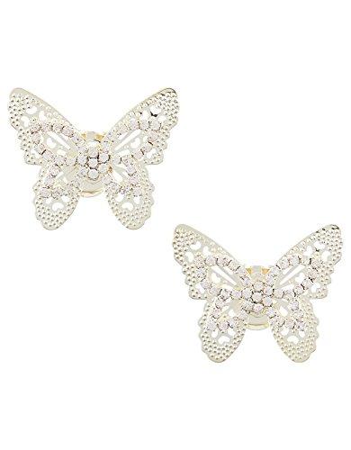 Lot Clips Taille Femme Papillon Strass de Chaussure 2 Unique Accessorize tdqAwt