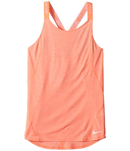 NIKE Girl's Dry Elastika Training Tank Top (Crimson/White, Medium) (Tops Girls Tank Nike)