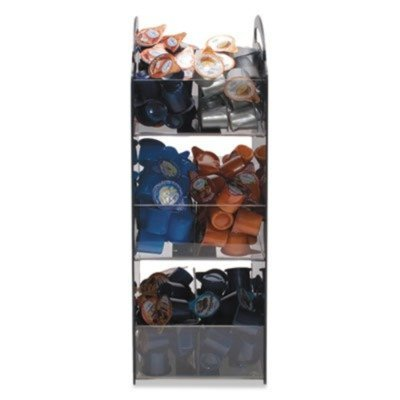 Compact Condiment Organizer, 6-1/8w x 8d x 18h, Black by VERTIFLEX (Catalog Category: Office Maintenance, Janitorial & Lunchroom / Food & Beverage) by Vertiflex from Vertiflex