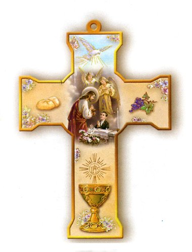 Wooden Wall Cross Communion Height product image