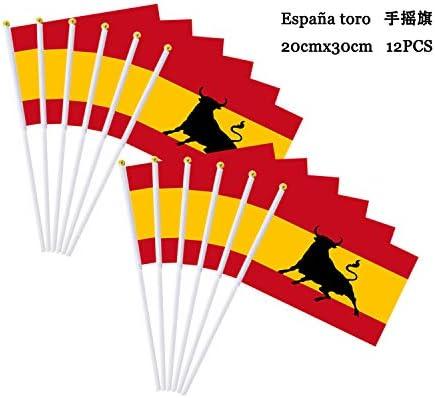 Durabol 12PCS Bandera de Mano de Toro Comunidades autónomas de ...