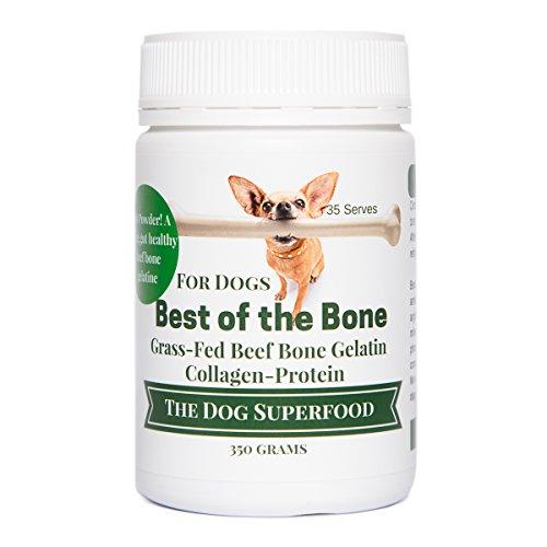 Gelatin Grass-Fed Bone Broth For Dogs - 100% Natural & No Additives For Optimal Canine Health - Supports Healthy Digestion, Build Strong Bones & Joints, Improves Skin, Fur, & Teeth - Broth For Dogs (Best Glucosamine Brand Australia)