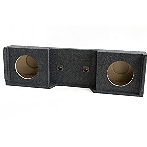 "Bbox A152-12CP Dual 12"" Sealed Carpeted Subwoofer Enclosure - Fits 1999-2007 Chevrolet/GMC Silverado/Sierra Extended Cab"