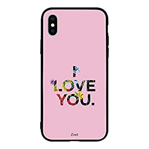 iPhone XS I Love You Floral Printing