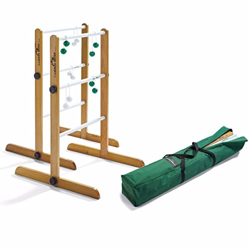 Ladder Golf Brand - Double Ladder Ball Game - Tournament Edition Set - With Green + White Bolas and a Heavy Duty Carrying Case and Official Rules - The Original Ladder Toss Game Since 2003 (Ladder Golf)