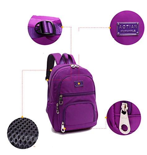 Keshi Nylon Niedlich Damen accessories hohe Qualität Einfache Tasche Schultertasche Freizeitrucksack Tasche Rucksäcke Rosa 1GRcQ1W