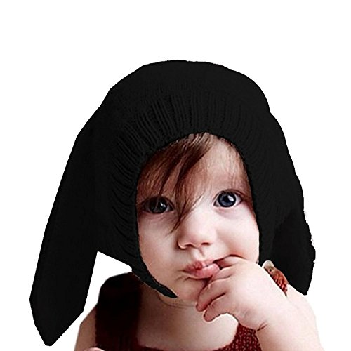 Jiamingyang Baby Rabbit Ears Knitted Hat Winter Cap for 0-3 Years Girl Boy ()