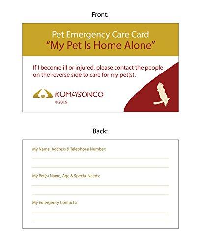 KumasonCo Pet Emergency Care Card Bird (Pack of 6) by KumasonCo (Image #1)