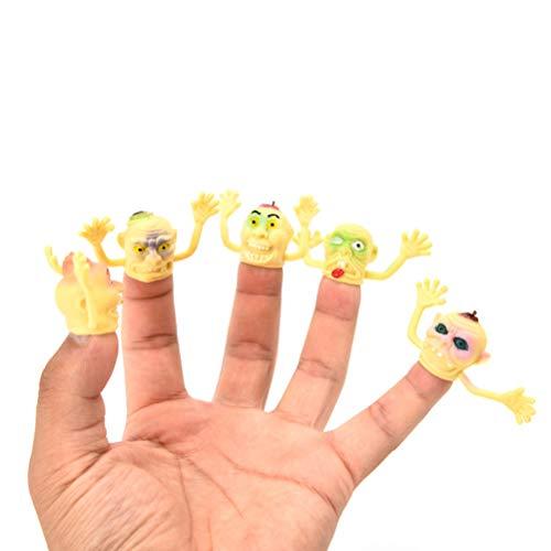 FUNZZY Halloween Ghost Finger Puppet Monster Puppet Finger Toys Doll Hand Toy Children Finger Puppets 20PCS]()
