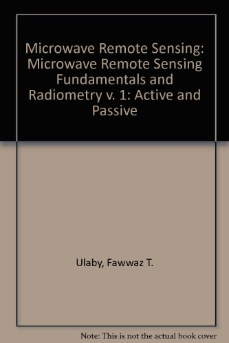Remote Active (Microwave Remote Sensing - Active and Passive - Volume I - Microwave Remote Sensing Fundamentals and Radiometry (v. 1))