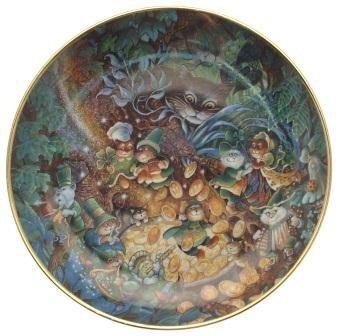 Franklin Mint St Catricks Day Bill Ben cat plate CP2137 - Franklin Mint Cat Plate