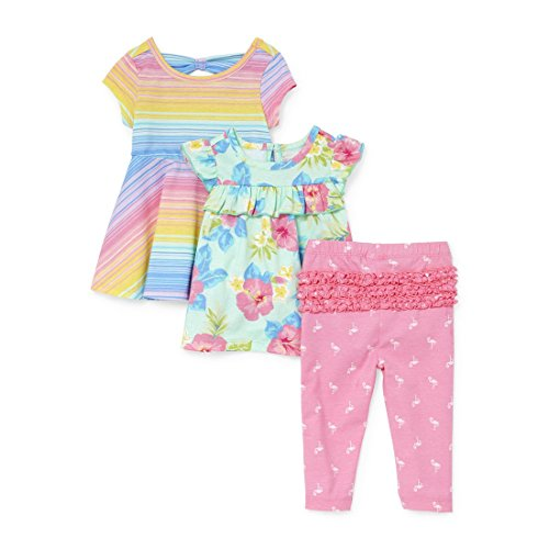 The Children's Place Baby Girls Playwear Bundle, Jazzberry, 0-3MONTHS