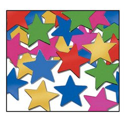 Fanci-Fetti Stars (multi-color) Party Accessory  (1 count) (1 (Lucky Star Halloween Costumes)