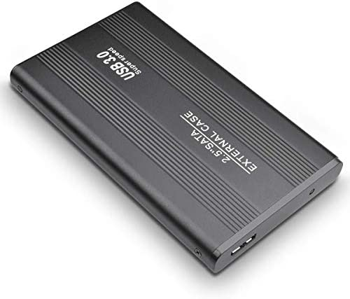 Externe Festplatte, 2 TB, USB 3.0, für PC, Laptop, Mac, Chromebook, Smart TV Schwarz 2 TB