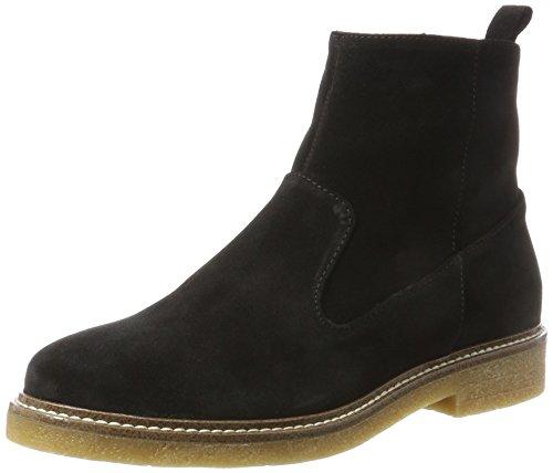 Noir Boots black 10 Femme Chelsea Bianco Wildleder wI5qvIU