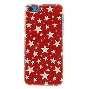 comprar Estrellas blancos del modelo del caso duro para el iPhone 5C