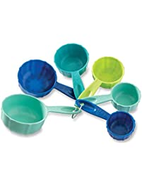 Nordic Ware 1157 Bundt Measuring Cups Set of 6 Coastal Colors