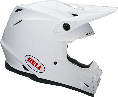 - Bell Moto-9 MIPS Off-Road Motorcycle Helmet (Solid Gloss White, Large)