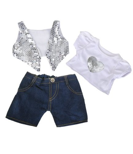 st & Shirt w/Denim Pants Teddy Bear Clothes Outfit Fits Most 14