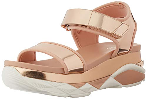 Aldo Women's Zarella. Sport Sandal, Metallic Miscellaneous, 7.5 B US