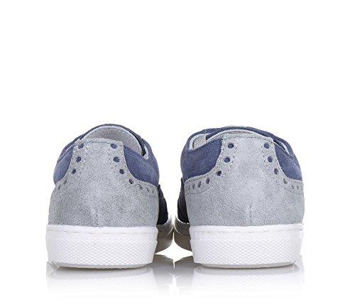 ALBERTO GUARDIANI - Chaussure à l'anglaise à lacets bleue, en suède, garçon, homme