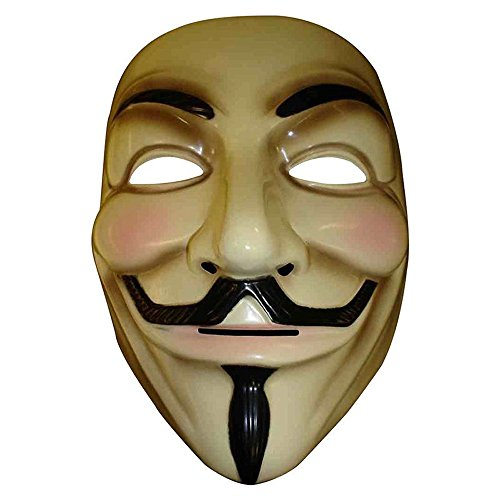 Gaobei V for Vendetta Mask Guy Fawkes Anonymous Halloween Masks Fancy Dress Costume
