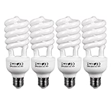 CanadianStudio Pro NEW 4 X 45W CFL 5500K 91 CRI Fluorescent Continuous Pure White Light Output (Lm) 2000 Light Bulbs