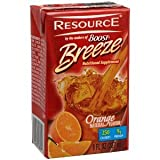 Boost Breeze Resource Drink, Orange 27 ea