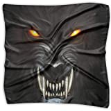 IEHFE MCNXB Angry Werewolf Face in Darkness Women's 100% Polyester Pocket Square Fashion Multi-Function Scarf Hip-pop Headscarf/Headband/Handkerchief