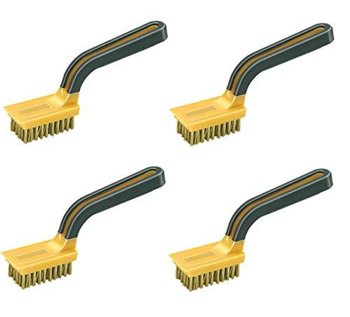 Allway Tools Soft Grip Wide Handle Brass Wire Stripper Brush, Sold as 4 Pack by AllwayTools