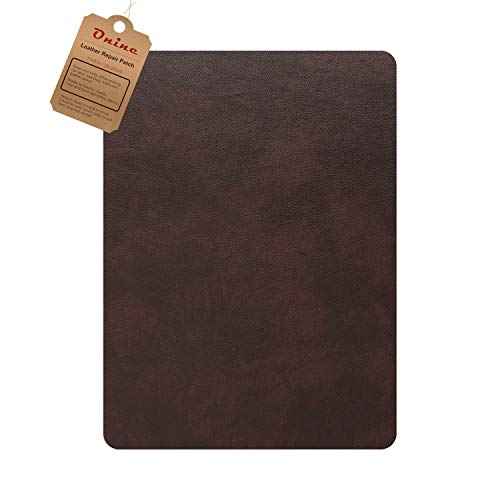 Leather Repair Patch,Self-Adhesive Couch Patch,Multicolor Available Anti Scratch Leather 8X11 Inch Peel and Stick for Sofas, car Seats Hand Bags Jackets (Red Brown)