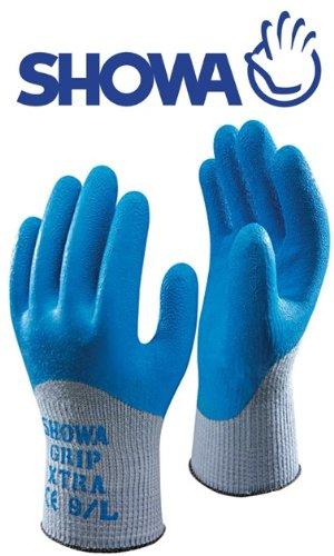SHOWA 305 Grip Xtra Gloves Latex Palm 10//XL
