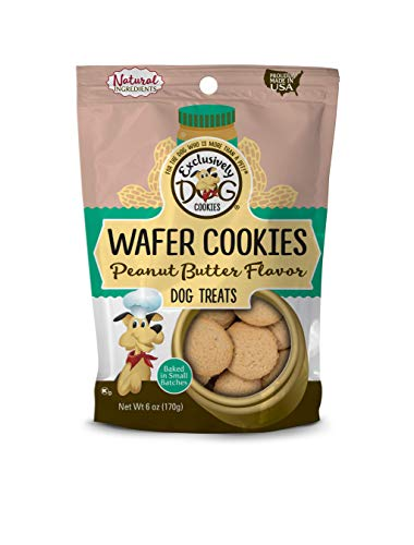 (Exclusively Pet Wafer Cookies-Peanut Butter Flavor, 8-Ounce Package)