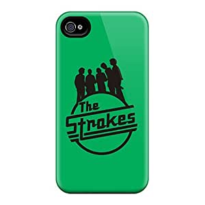 High Quality Phone Cases For Iphone 4/4s With Customized Stylish The Strokes Green Logo Pictures AnnaDubois