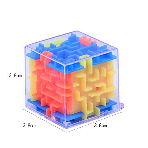 Wenini 3D Cube Puzzle Toy - New 3D Cube Puzzle Maze Toy Hand Game Case Box Fun Brain Game Challenge Fidget Toys (Multicolor) by Wenini (Image #5)