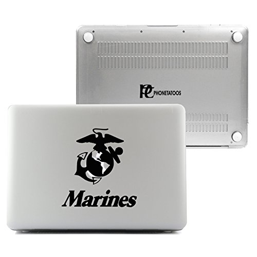 PhoneTatoos -Marines Clear / Transparent Plastic Hard Case Cover for Macbook Air 13'' (Model: A1466, A1369) by PhoneTatoos