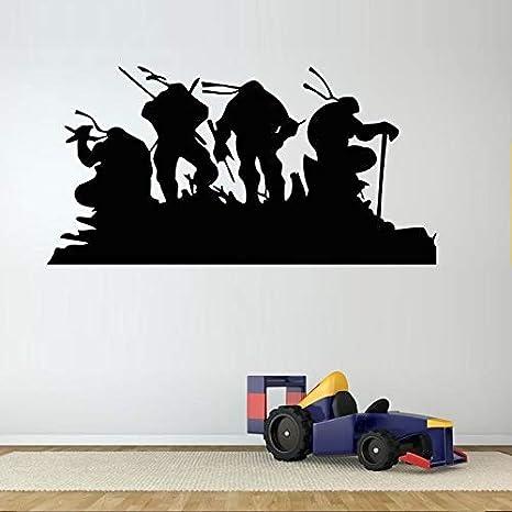 42x84cm Turtle Cartoon Heroes ninja pegatinas de pared para ...