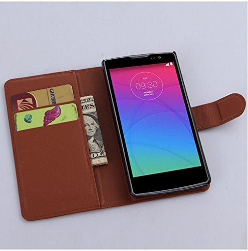 Funda LG Spirit,Manyip Caja del teléfono del cuero,Protector de Pantalla de Slim Case Estilo Billetera con Ranuras para Tarjetas, Soporte Plegable, Cierre Magnético A