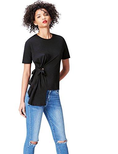 find. Women's Crew Neck T-Shirt, Black S (US 4-6)